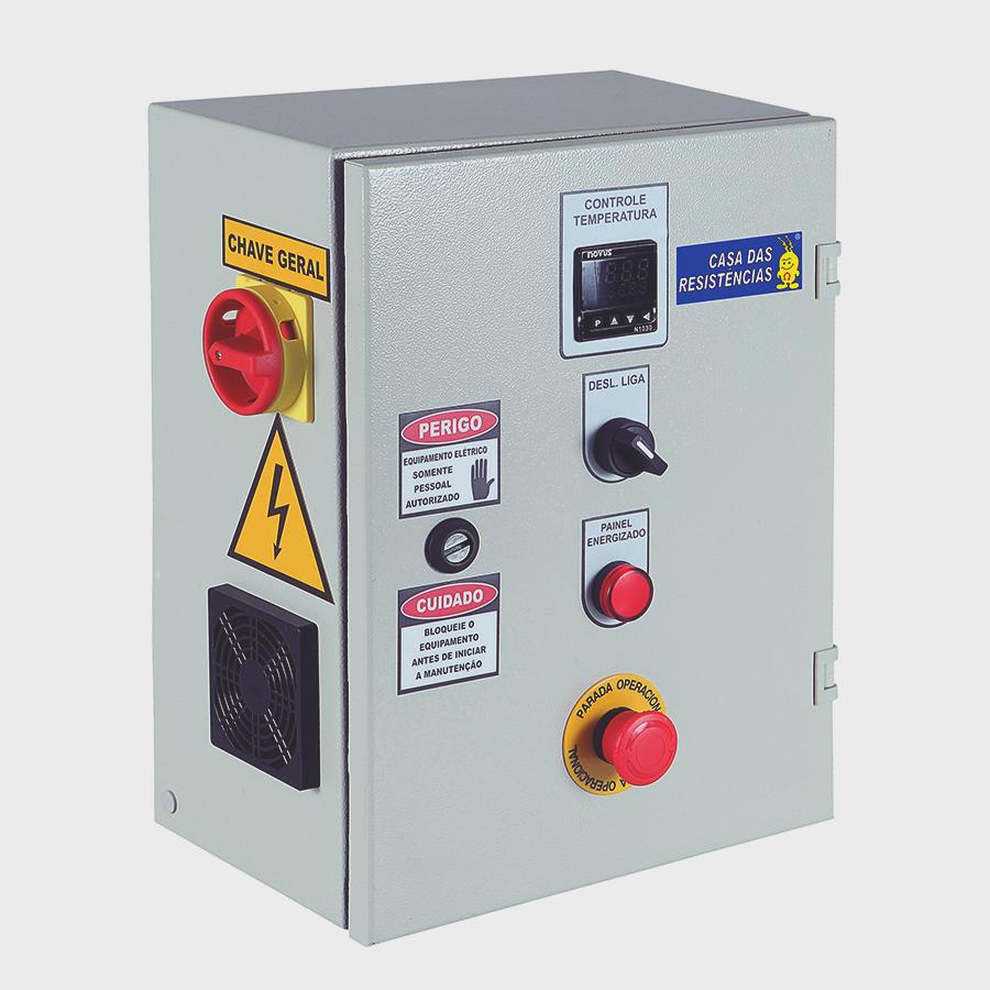 Painel de Controle de Temperatura Industrial